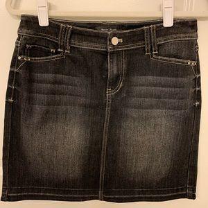 WHBM Black Jean Skirt Size 4